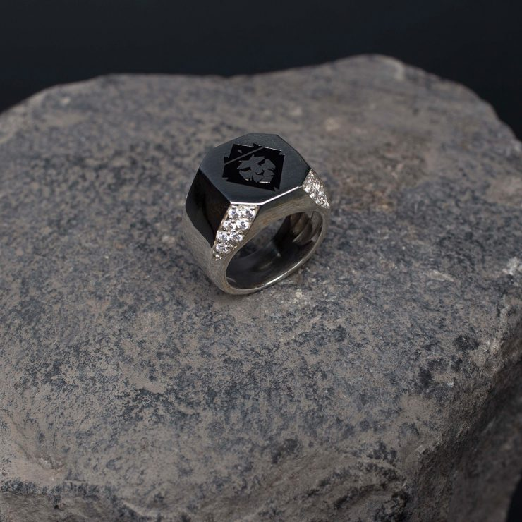 anello argento 925 smalto a fuoco e duraliti