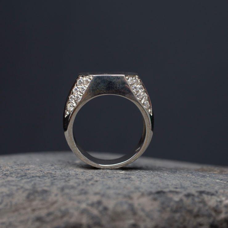 anello argento 925 smalto e zirconi