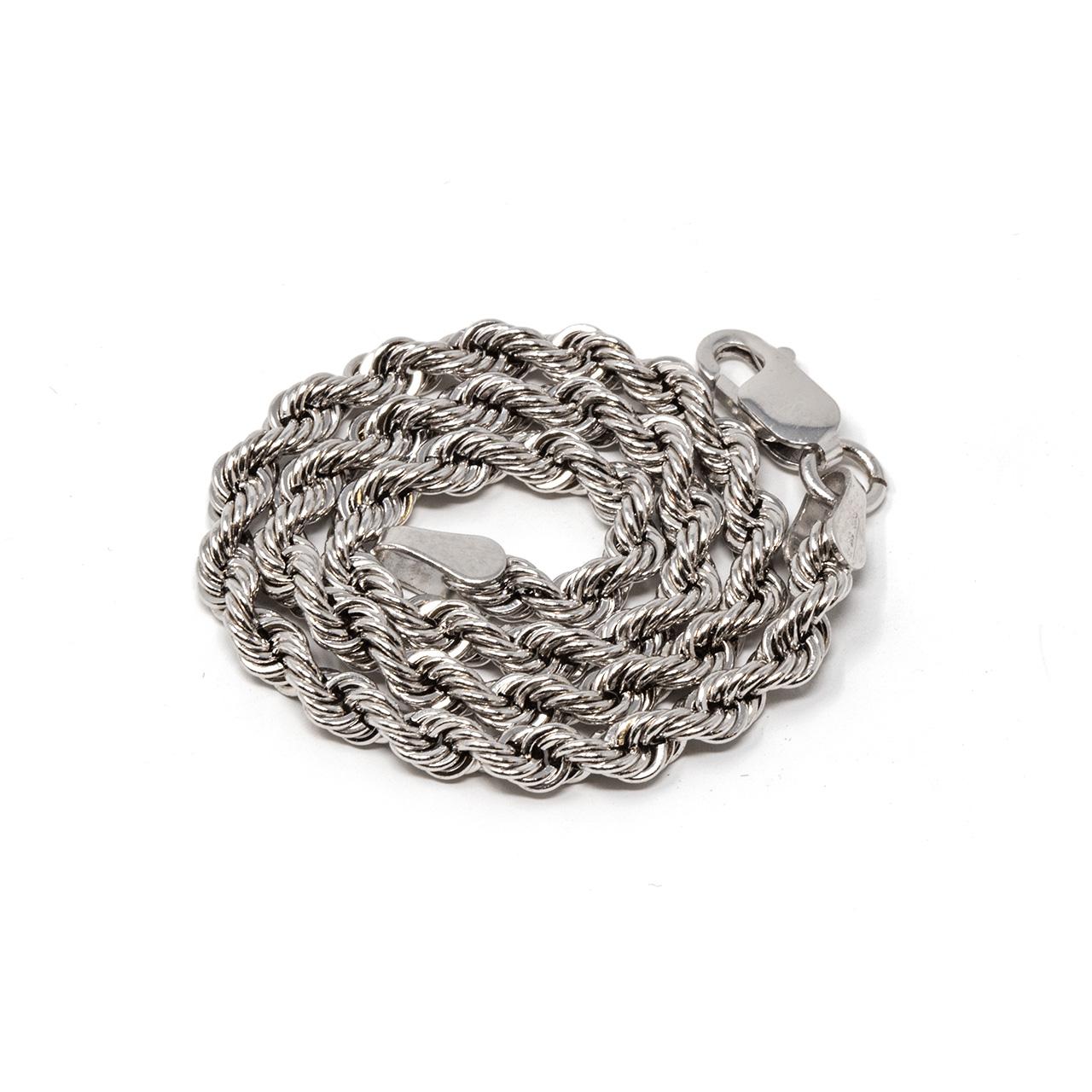 collana rope oro bianco 18 kt