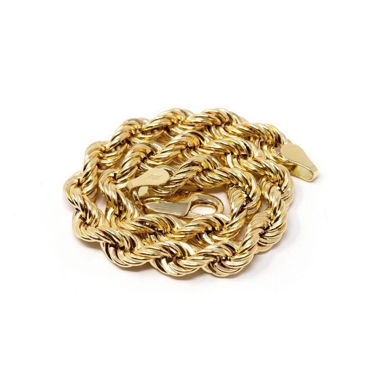 collana rope oro giallo 18 kt