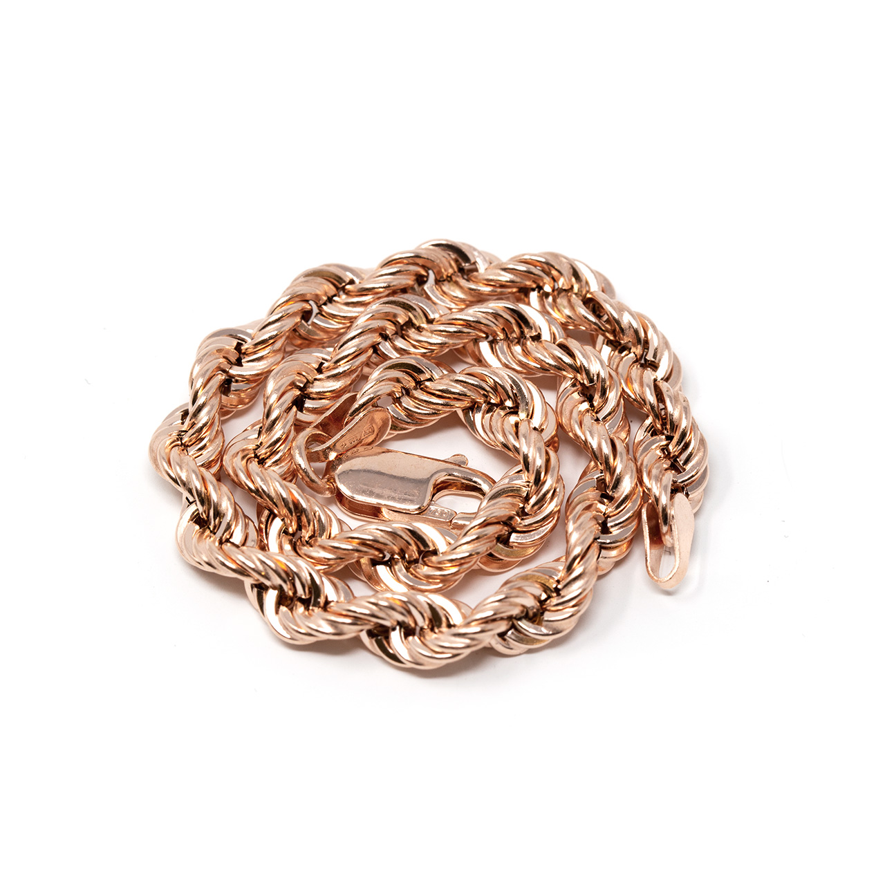 collana rope oro rosa 18 kt