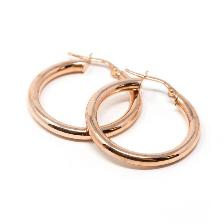 risivi lab orecchini cerchio oro rosa 18 kt roma