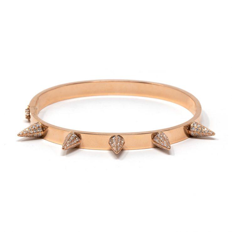 bracciale con punte oro e diamanti roma
