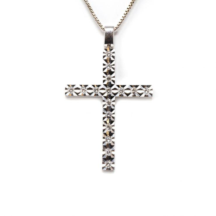gioiello croce diamanti