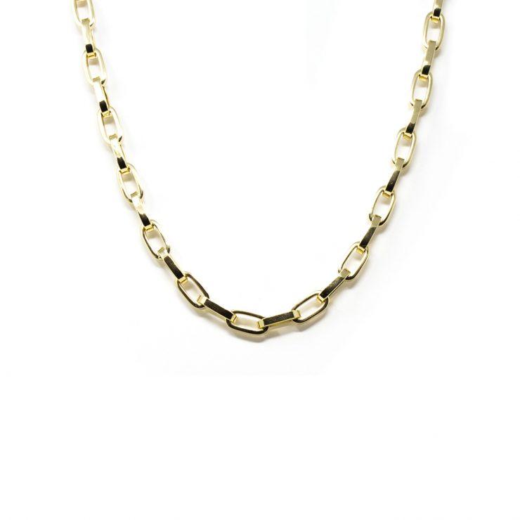 collana rollo ovale squadrate oro giallo 18 kt risivi lab