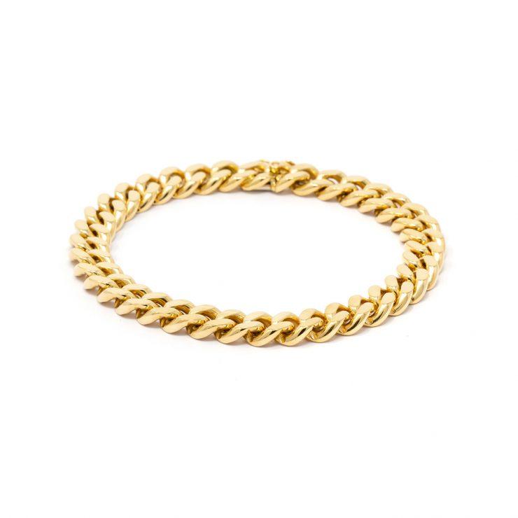 bracciale cuban full oro giallo 18 kt risivi lab