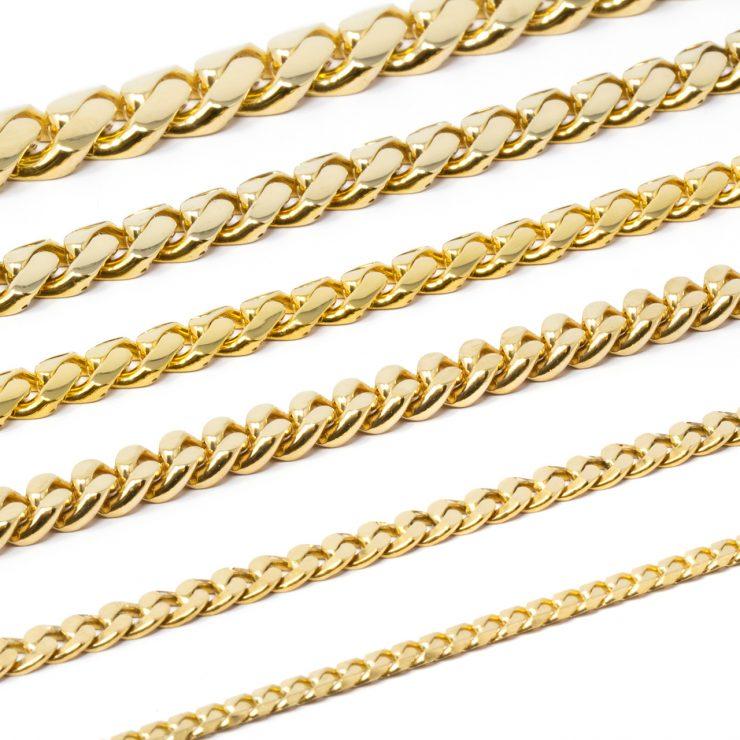 bracciali cuban oro giallo 18 kt risivi lab