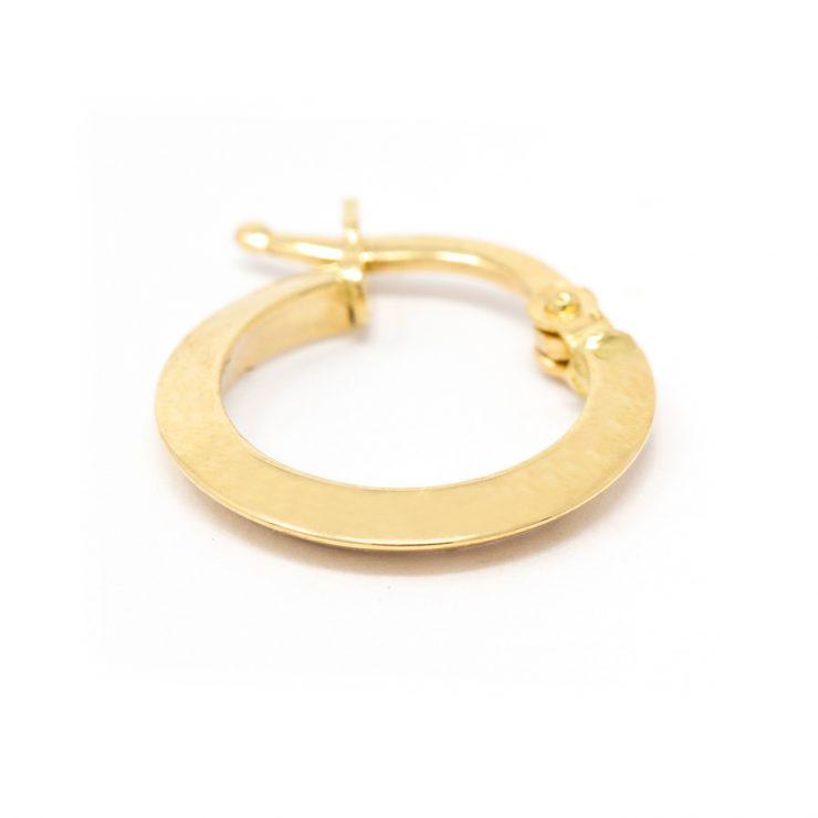 orecchini cerchio oro 18 kt schiena di mulo