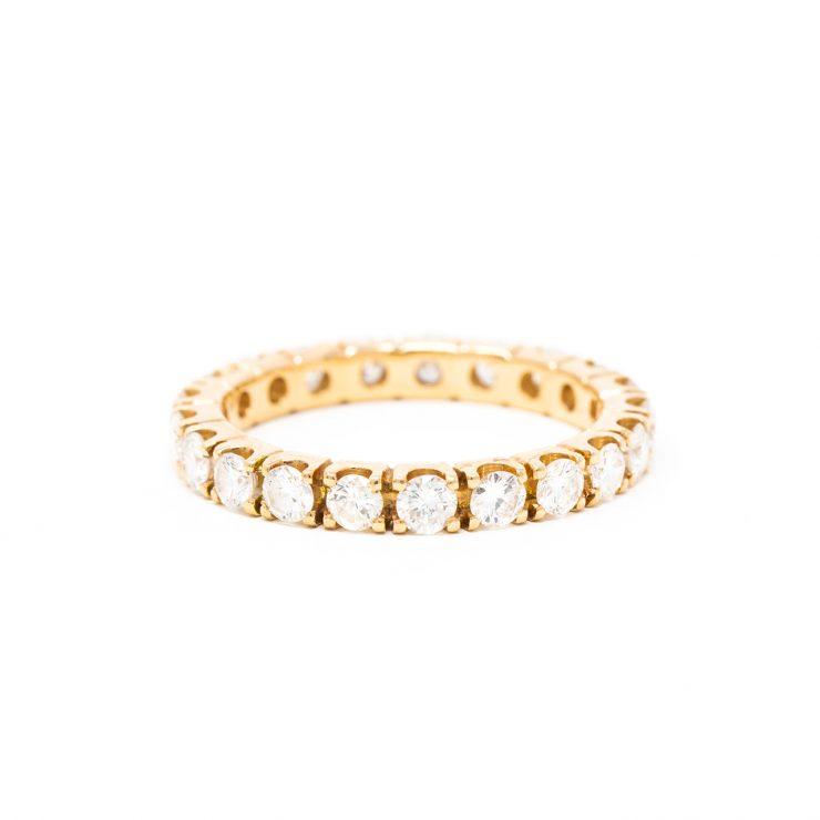 anello veretta oro rosa 18 kt diamanti brillanti roma