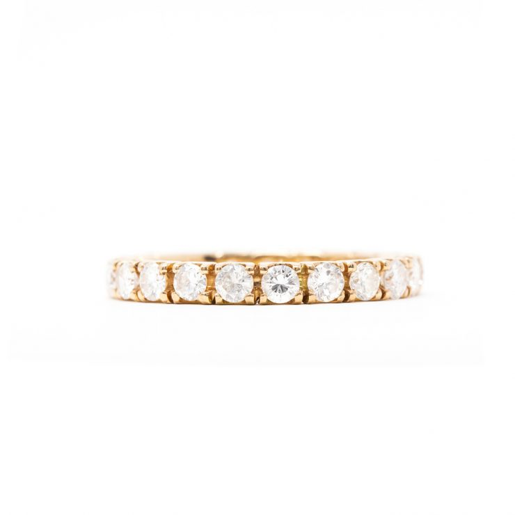 anello veretta oro rosa 18 kt diamanti brillanti