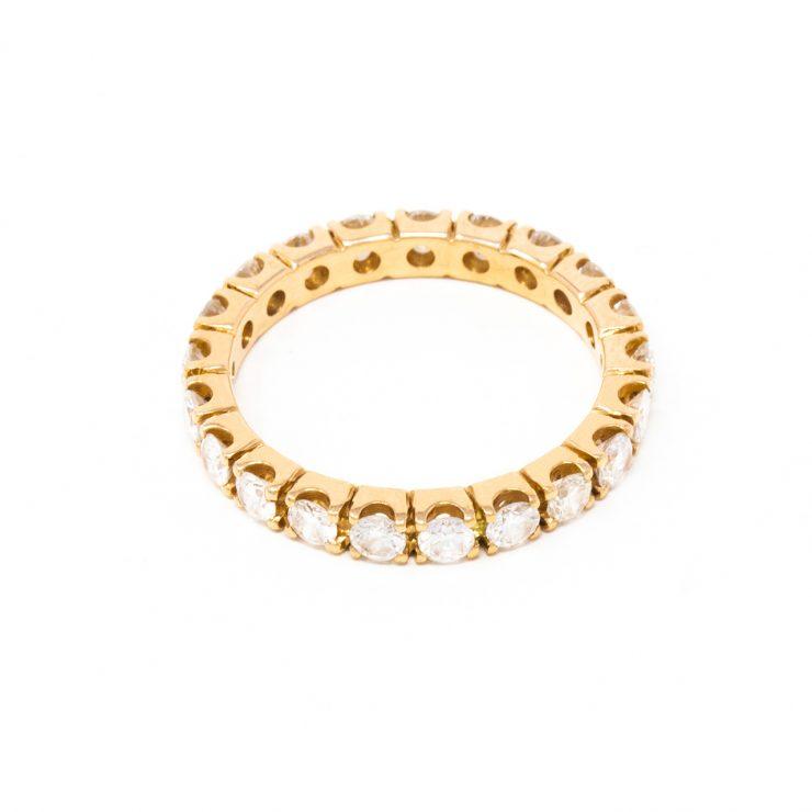 anello veretta oro rosa 18 kt diamanti brillanti risivi lab