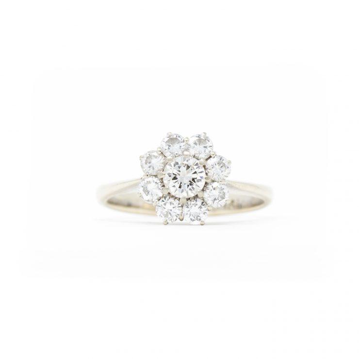 anello margherita oro bianco diamanti brillanti roma