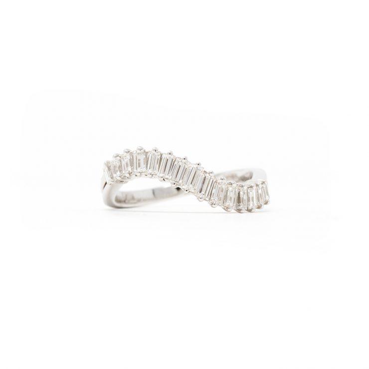 anello riviera baguette oro bianco diamanti roma