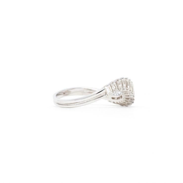 anello riviera baguette oro bianco diamanti risivi lab
