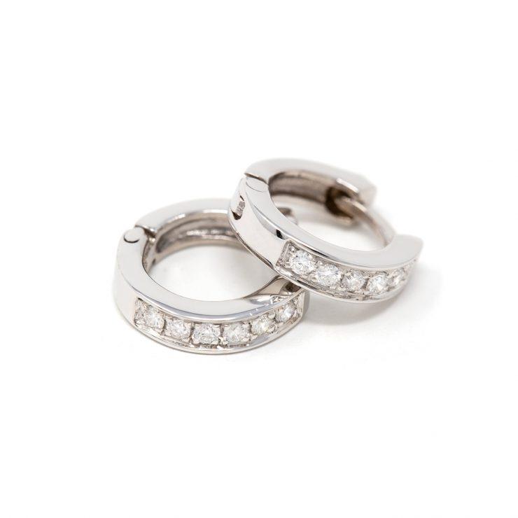 orecchini cerchi oro bianco diamanti brillanti risivi lab