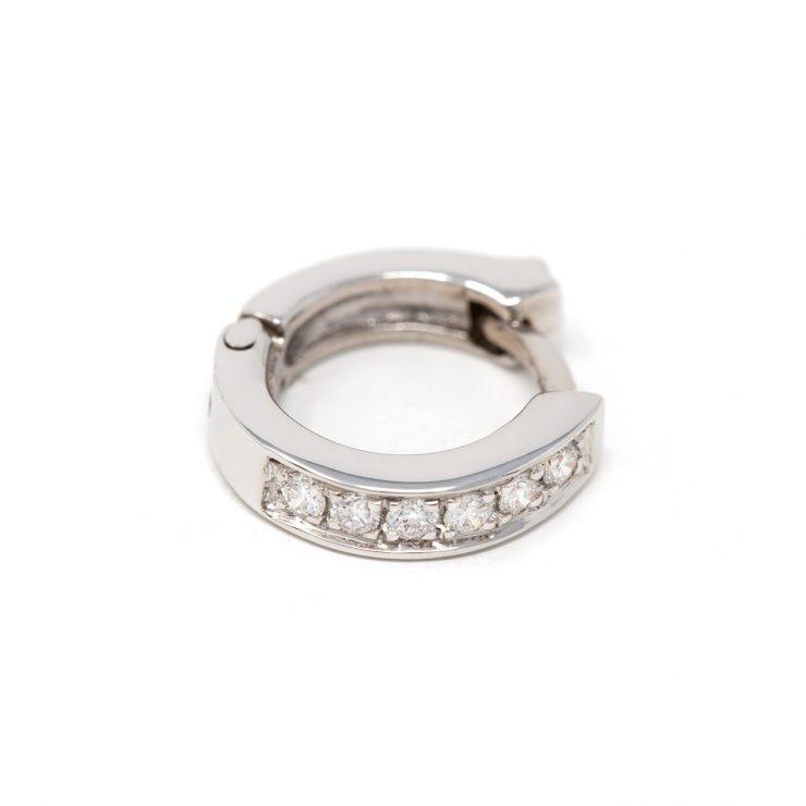 orecchini cerchi oro bianco diamanti brillanti roma