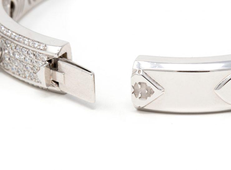 bracciale spuntoni oro bianco 18 kt e diamanti risivi lab