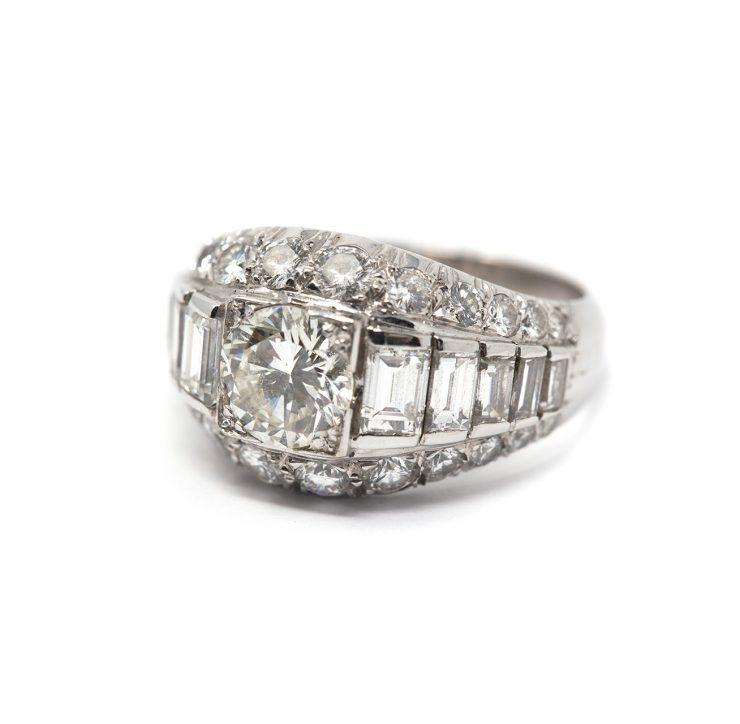 anello oro bianco 18 kt diamanti roma
