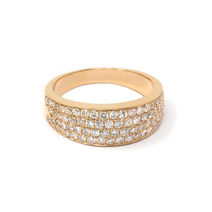 anello fascia goccia oro rosa 18 kt diamanti