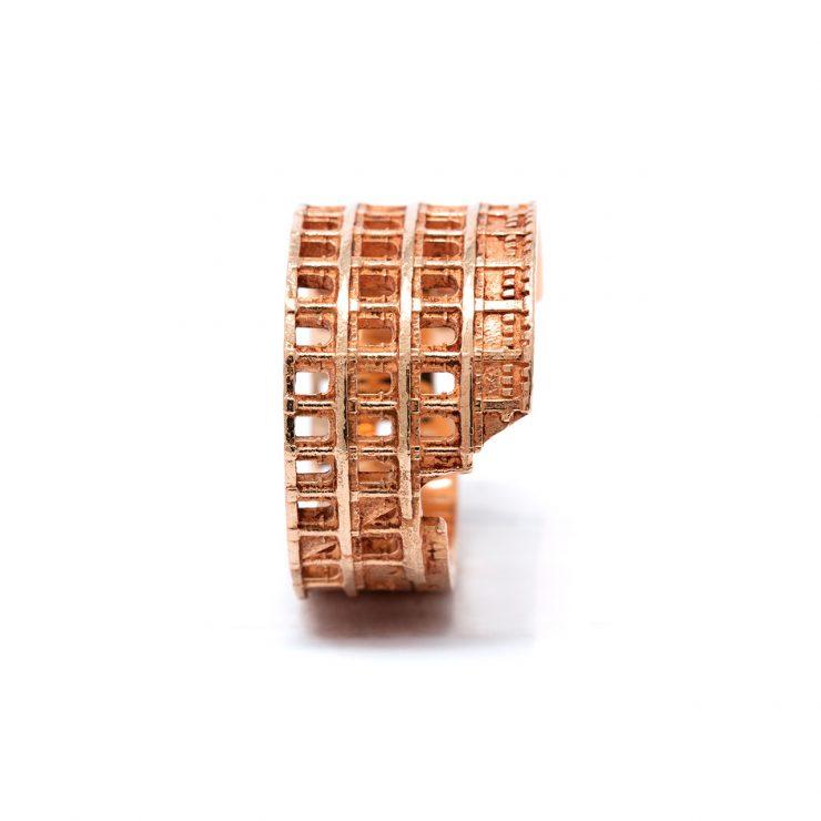 colosseo ring oro rosa 18 ktcolosseo ring oro rosa 18 k
