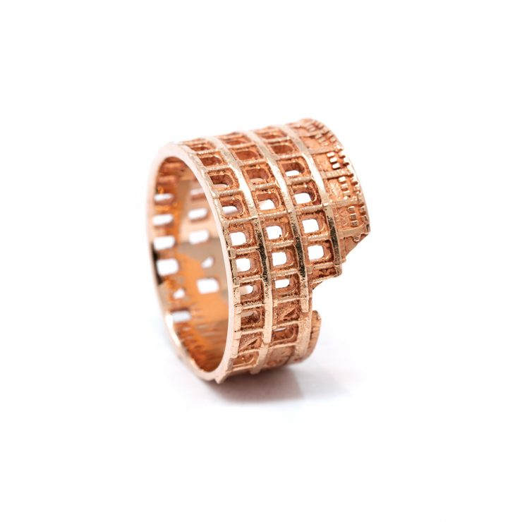 colosseo ring oro rosa 18 kt