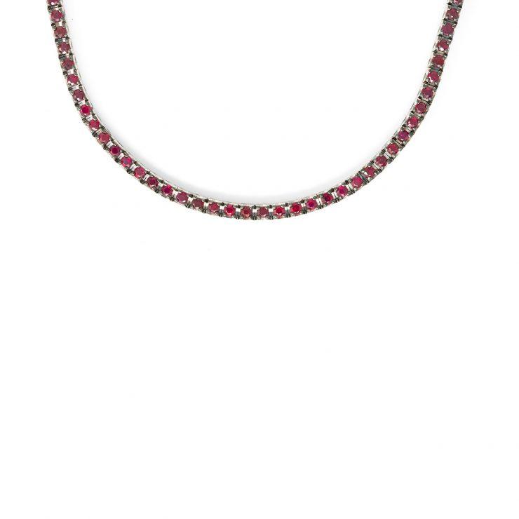collier tennis rubini