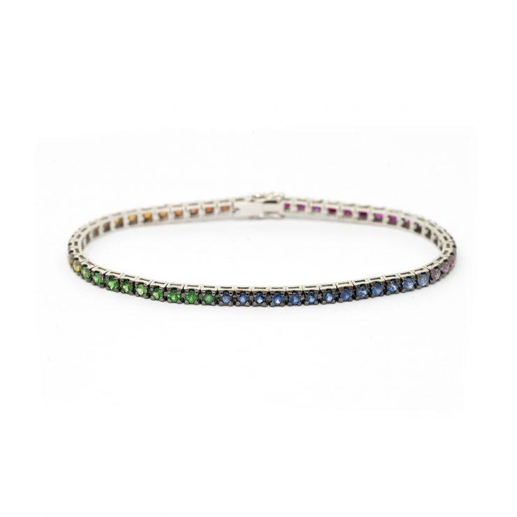 bracciale tennis rainbow